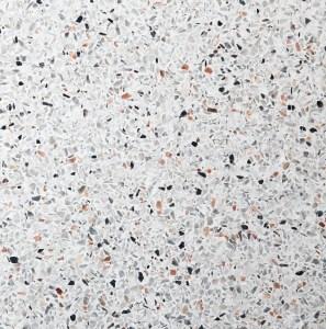 White terrazzo floor background